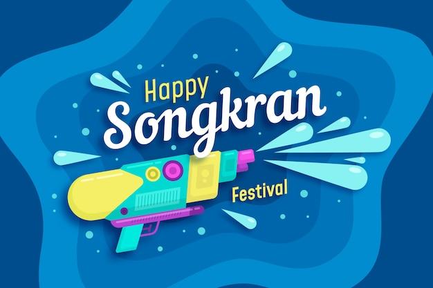 Koncepcja Tło Płaski Songkran Darmowych Wektorów