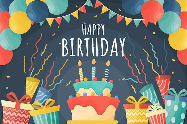 Koncepcja Tło Uroczysty Urodziny Darmowych Wektorów