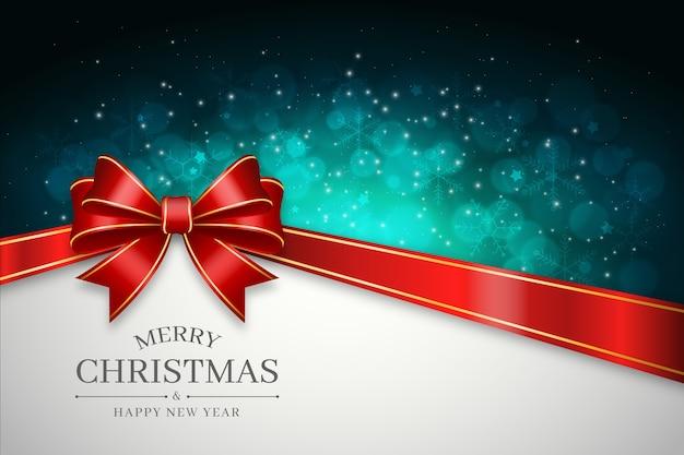 Koncepcja Tło Wstążka Boże Narodzenie Darmowych Wektorów