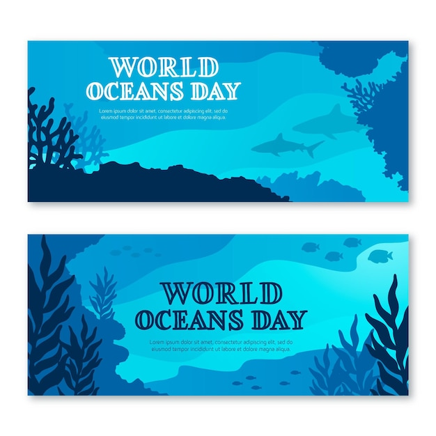 Koncepcja Transparent światowy Dzień Oceanów Darmowych Wektorów