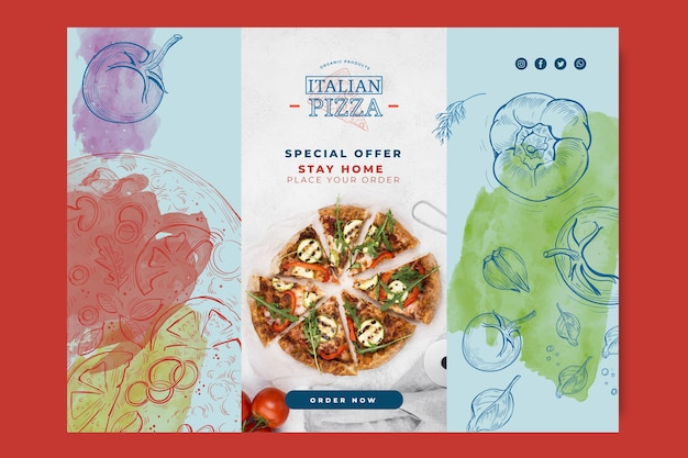 Koncepcja Transparent Włoskiej żywności Darmowych Wektorów