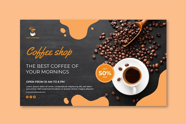 Koncepcja Transparentu Kawiarni Darmowych Wektorów
