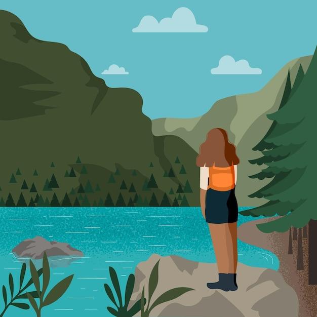 Koncepcja Turystyki Ekologicznej Darmowych Wektorów