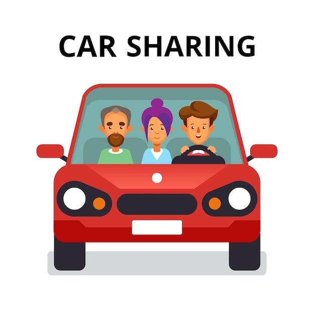 Koncepcja Udostępniania Samochodów Premium Wektorów