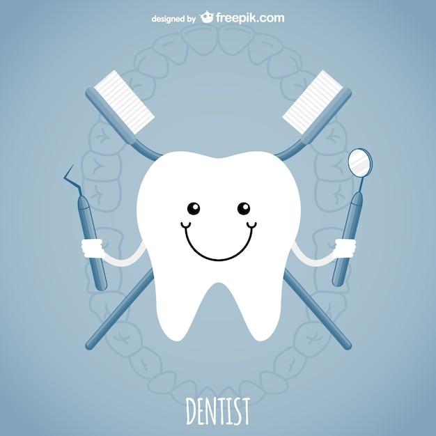 Koncepcja wektor dentysta Darmowych Wektorów
