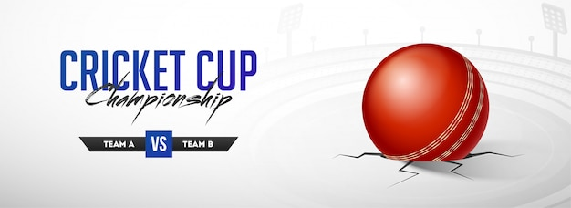 Koncepcja world cricket championship. Premium Wektorów