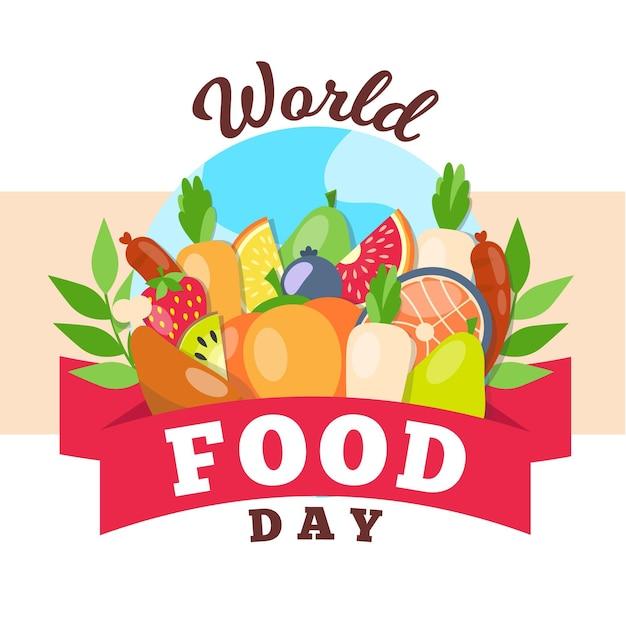 Koncepcja Wydarzenia światowego Dnia żywności Premium Wektorów