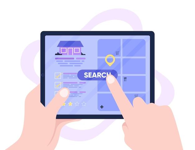 Koncepcja Wyszukiwania Nieruchomości Darmowych Wektorów