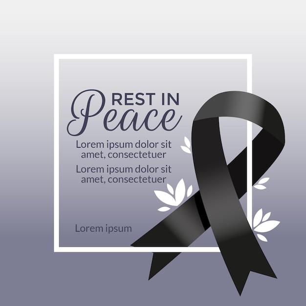 Koncepcja żałoby Dla Ofiar Darmowych Wektorów