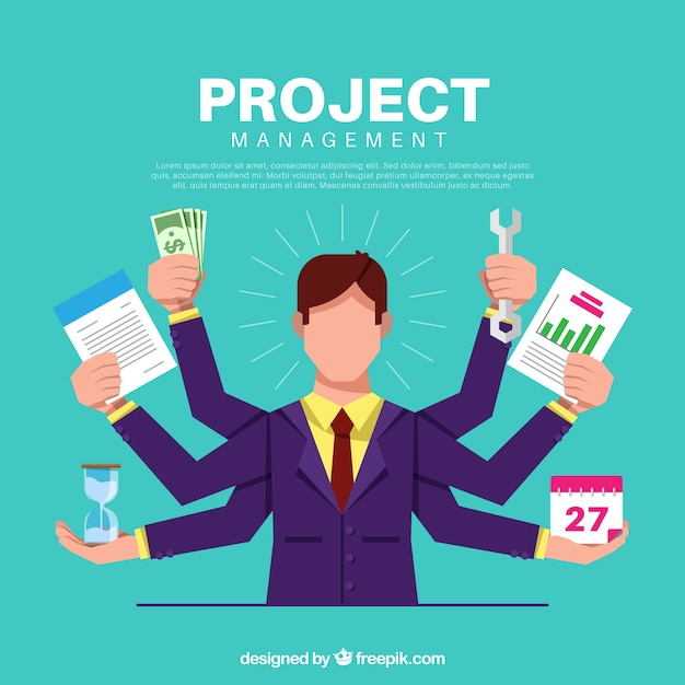 Koncepcja Zarządzania Projektem Premium Wektorów