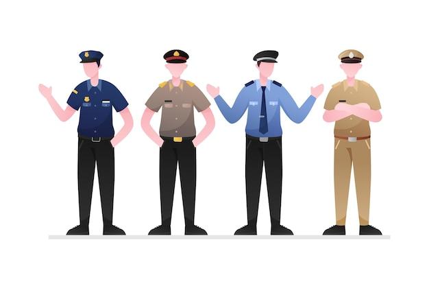 Koncepcja Zbiórki Policji Darmowych Wektorów
