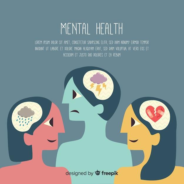 Koncepcja Zdrowia Psychicznego Darmowych Wektorów