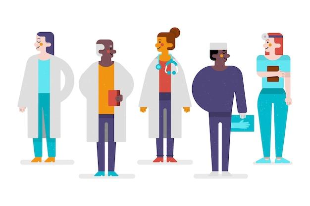 Koncepcja Zespołu Pracowników Służby Zdrowia Darmowych Wektorów