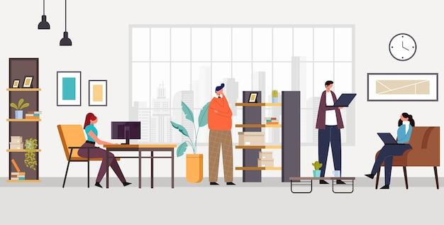 Koncepcja życia Postaci Biurowych Ludzi. Premium Wektorów