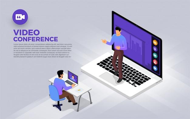 Konferencja Wideo Premium Wektorów