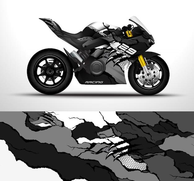 Konstrukcja Owinięcia Motocykla Premium Wektorów