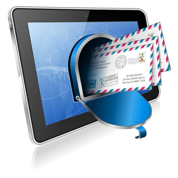 Koperty z komputerem typu tablet Premium Wektorów