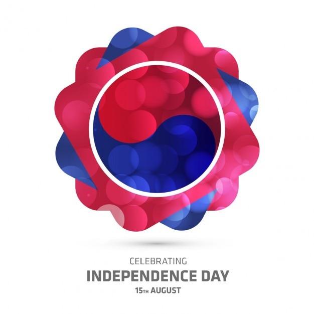 Korea Południowa Obchody Dnia Niepodległości świecące Twórczy Tle Darmowych Wektorów