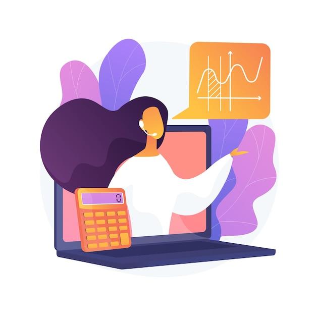 Korepetycje Z Matematyki Online Streszczenie Ilustracja Koncepcja. Prywatne Lekcje Matematyki, Osiągnięcie Celów Akademickich, Edukacja Online W Zakresie Kwarantanny, Nauczanie W Domu, Wykwalifikowani Nauczyciele Darmowych Wektorów