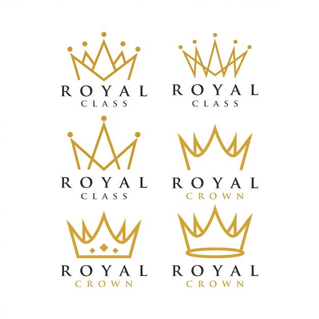 Korona Królewski Szablon Graficzny Premium Wektorów