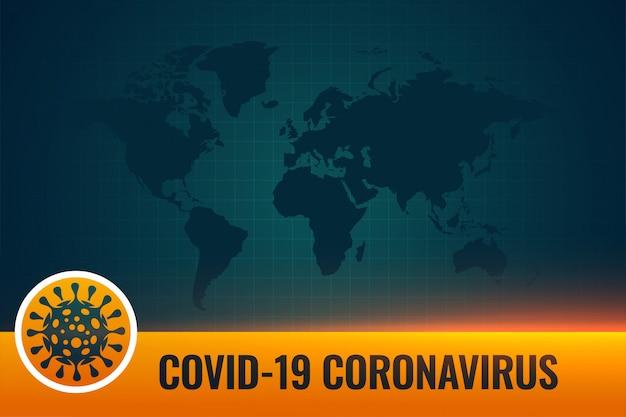 Koronawirus Covid19 U Dołu Trzecie Tło Z Przestrzenią Tekstową Darmowych Wektorów