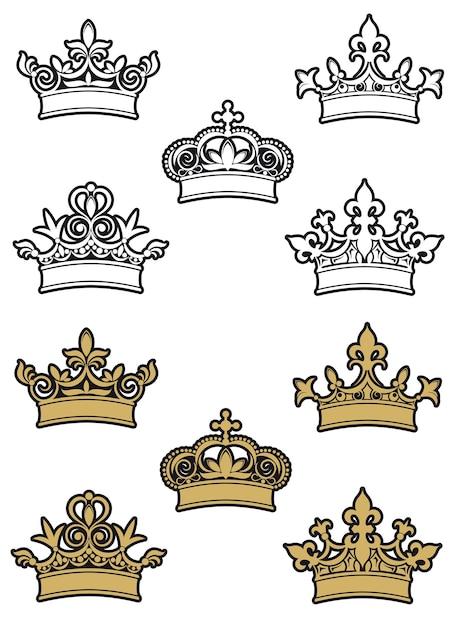 Korony Heraldyczne Premium Wektorów