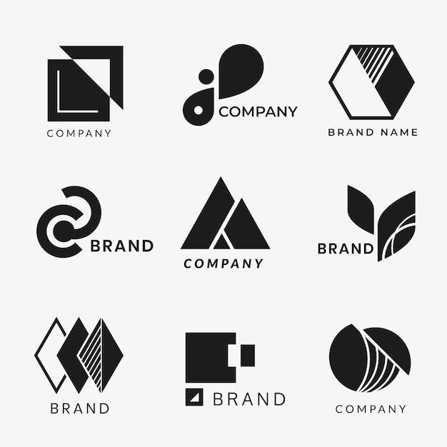 Korporacyjne wzory logo Darmowych Wektorów
