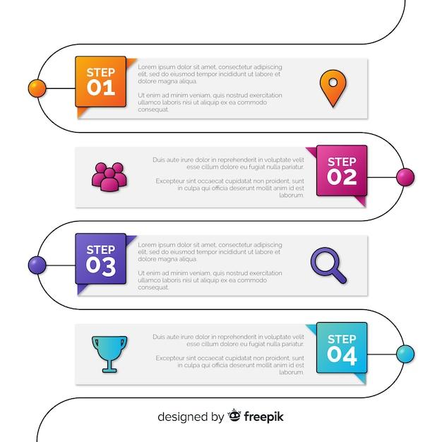 Korporacyjnego Biznesu Infographic Szablon, Skład Infographic Elementy Darmowych Wektorów