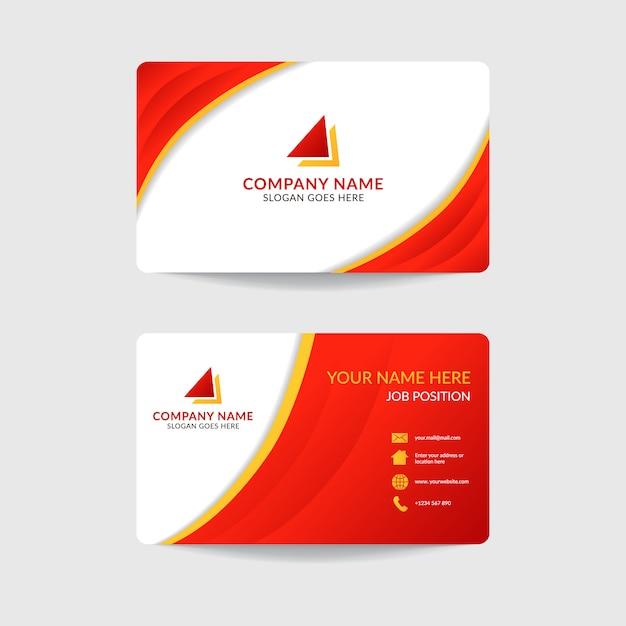 Korporacyjny nowożytny wizytówka szablonu projekt Premium Wektorów