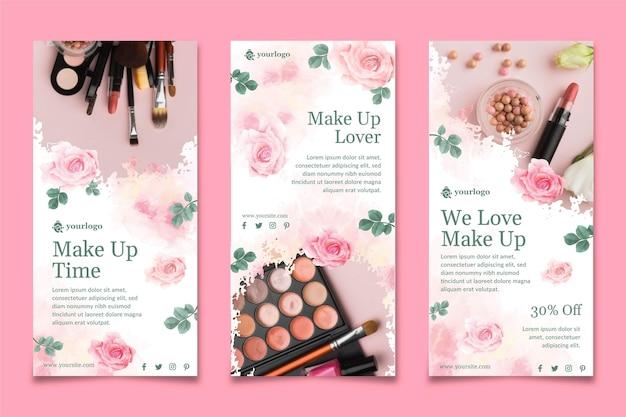 Kosmetyczne Historie Na Instagramie Premium Wektorów