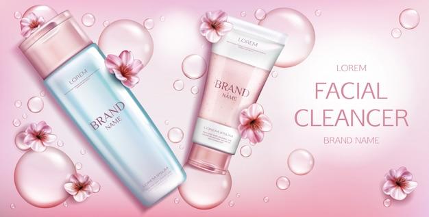 Kosmetyk kosmetyczny na różowo Darmowych Wektorów