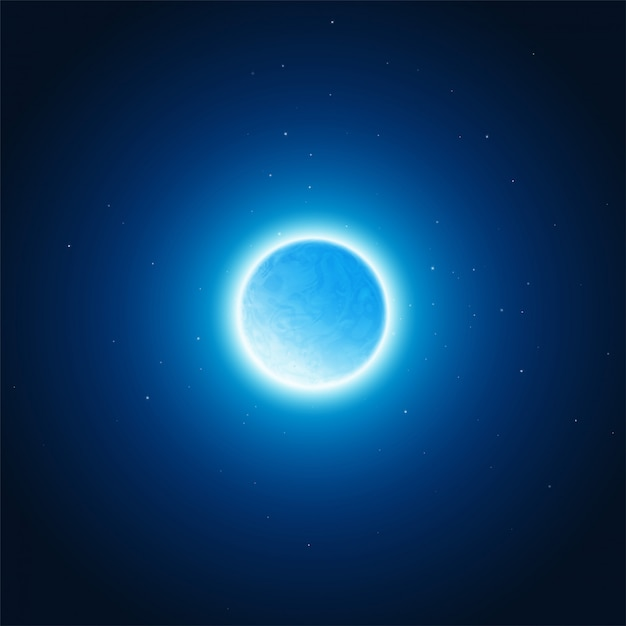 Kosmiczna Poświata Tła Planety. Ilustracji Wektorowych Premium Wektorów