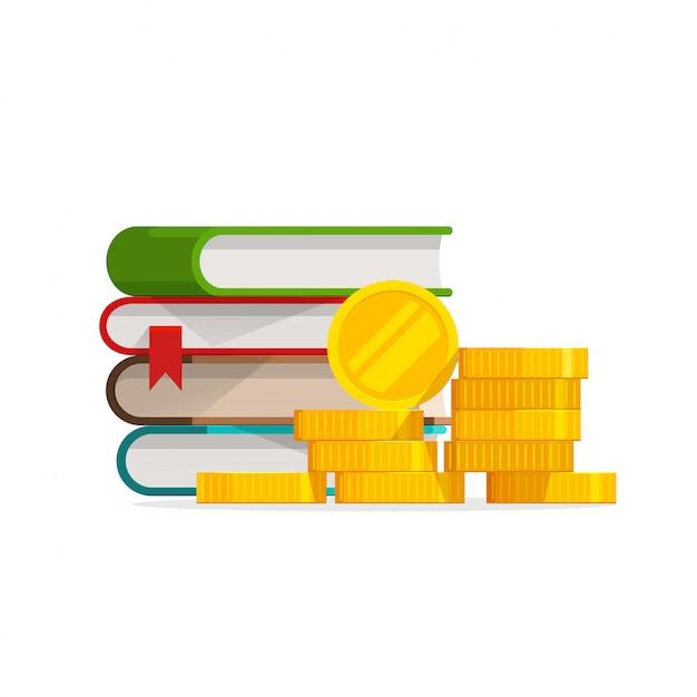 Koszt Wiedzy Na Temat Ukończenia Studiów Lub Kosztowna Pożyczka Na Edukację Lub Stypendium Premium Wektorów