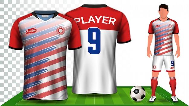 Koszula Sportowa Lub Zestaw Do Piłki Nożnej Mundur. Premium Wektorów