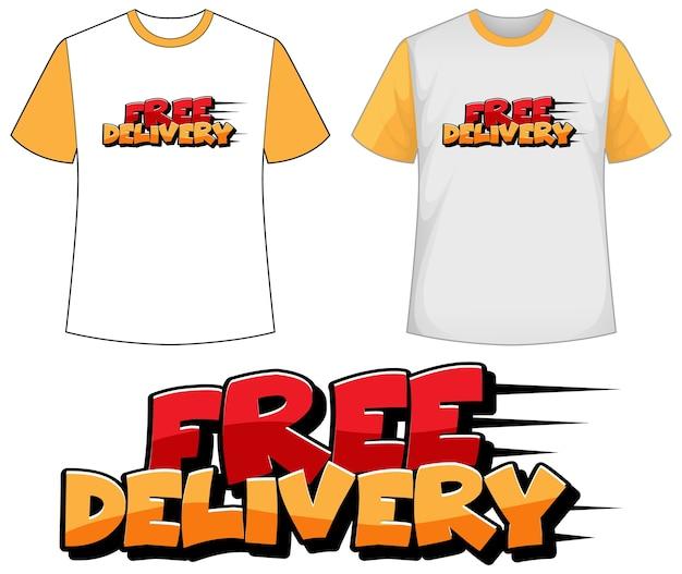 Koszula Z Ikoną Bezpłatnej Dostawy Darmowych Wektorów