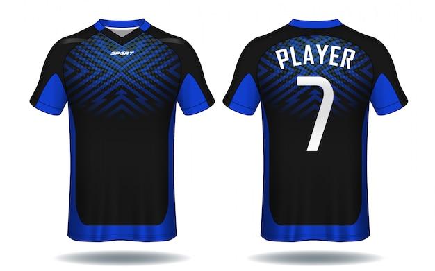 Koszulka Koszulka Piłkarska Szablon.sport. Premium Wektorów