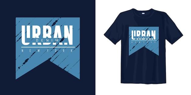 Koszulka Miejska Denim New York Premium Wektorów