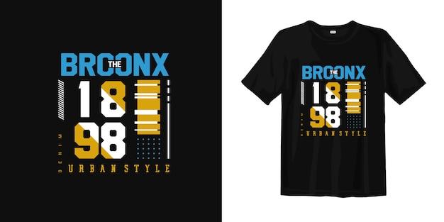 Koszulka Miejska W Stylu Bronx Premium Wektorów
