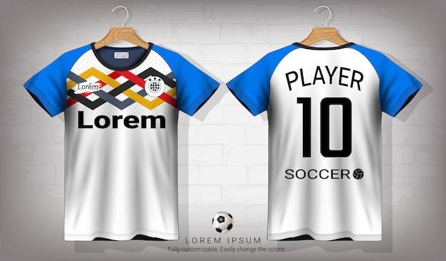 Koszulka Piłkarska I Koszulka Sportowa Makieta Szablon. Premium Wektorów