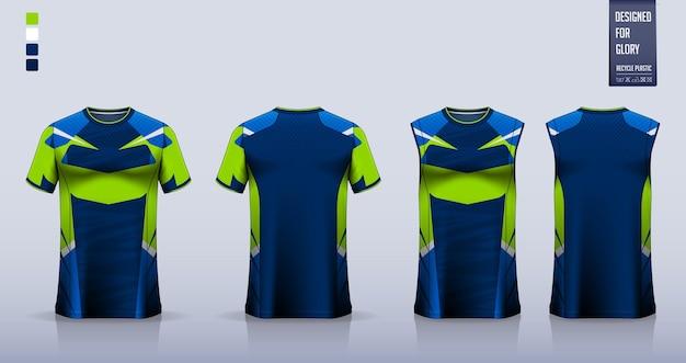 Koszulka Piłkarska, Strój Piłkarski, Strój Do Koszykówki Lub Projekt Szablonu Odzieży Sportowej. Premium Wektorów