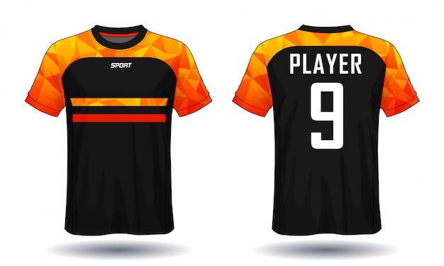 Koszulka piłkarska template.sport t-shirt design. Premium Wektorów