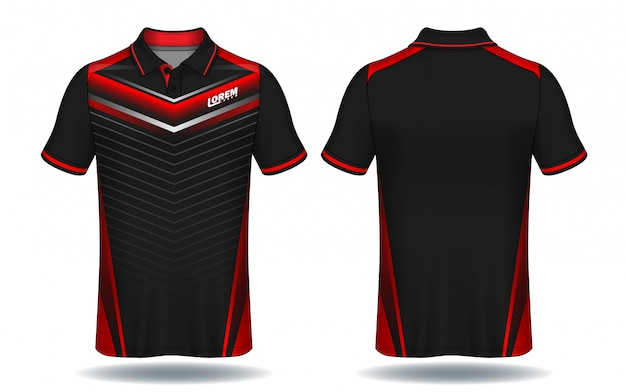 Koszulka polo design, koszulka sportowa. Premium Wektorów