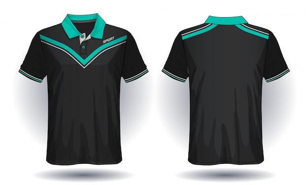 Koszulka Polo, Koszulka Sportowa. Premium Wektorów