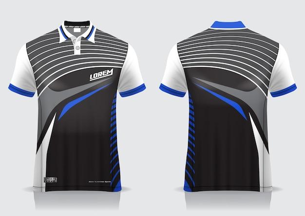 Koszulka Polo Na Jednolity Szablon Premium Wektorów