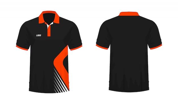 Koszulka Polo Pomarańczowa I Czarna T Ilustracja Premium Wektorów