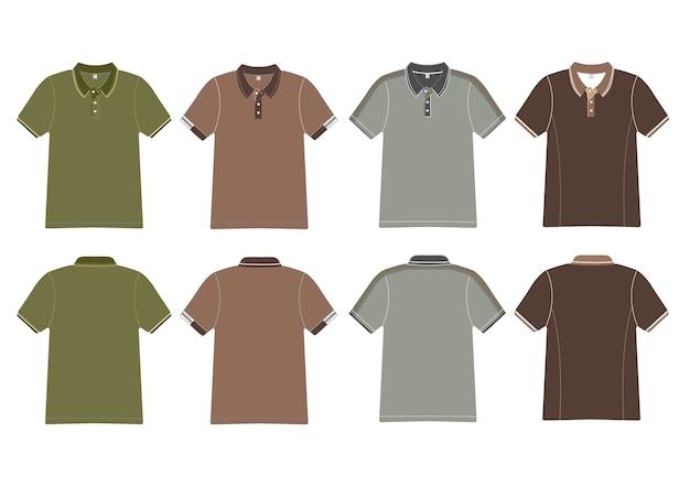 Koszulka Polo Projekt Wektor Premium Wektorów