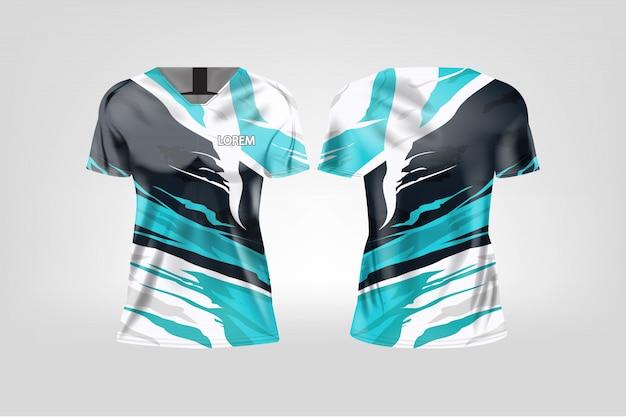 Koszulka sportowa dla kobiet, koszulka piłkarska dla klubu piłkarskiego. Premium Wektorów