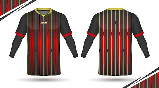 Koszulka Sportowa Szablon Koszulki Piłkarskie Premium Wektorów
