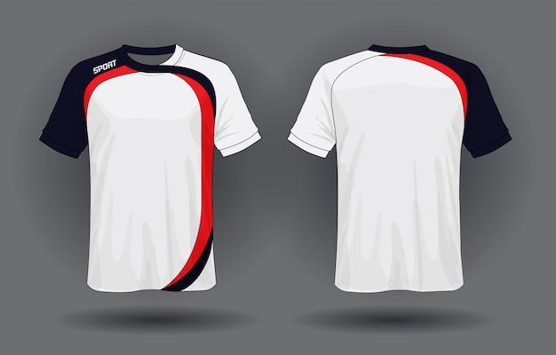 Koszulka Sportowa Z Jerseyu Piłkarskiego Premium Wektorów
