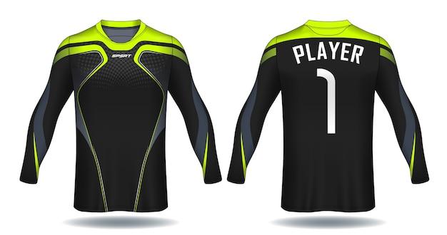Koszulka Z Długim Rękawem Jersey Template.sport. Premium Wektorów